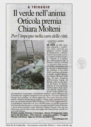 Orticola di Lombardia premia