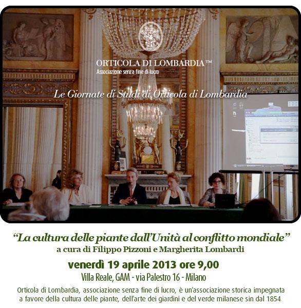 Giornata di studi di Orticola al GAM sala da ballo di Villa Reale Milano
