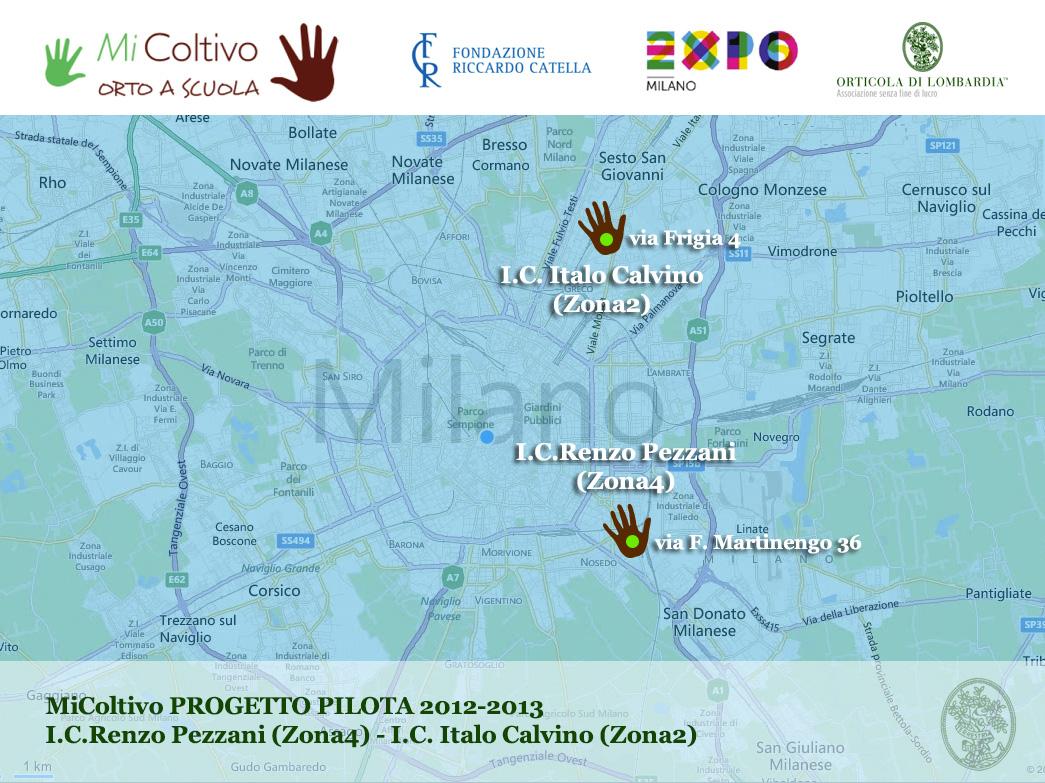 MiColtivo Progetti Pilota Milano piantina