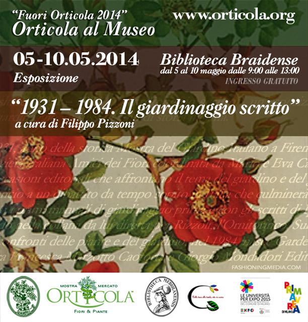 Orticola 2014 Written gardening