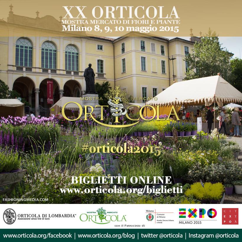 XX Mostra Orticola 8, 9 e 10 maggio 2015 Milano