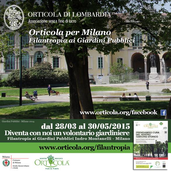 Orticola per Milano filantropia volontari giardinieri